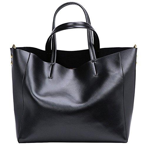 Noir Sac à d'Epaule Cuir Sac Véritable en Fashion S Main ZONE 8EnavqHwT