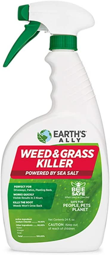 Earth's Ally Weed and Grass Killer Spray   24 fl. oz. Ready-to-Use   Natural Non-Selective Herbicide   Environmentally Safe Weed Killer   Pet Safe   Bee Safe   No Glyphosate