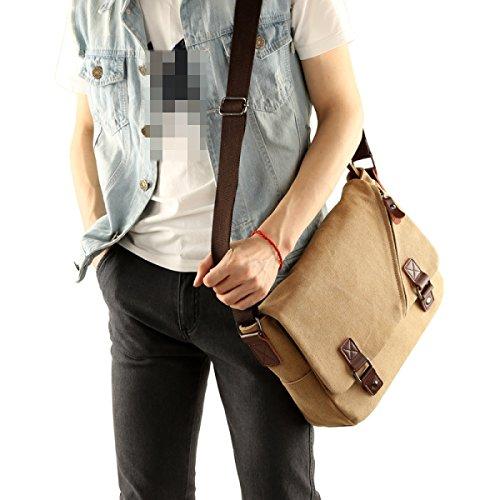 Messenger Bags Beiläufigen Schulter-Satz-Daypack Sling Bag Männer Frauen Sport Arbeit Schule Reise Retro Leinwand Herrentaschen Brown
