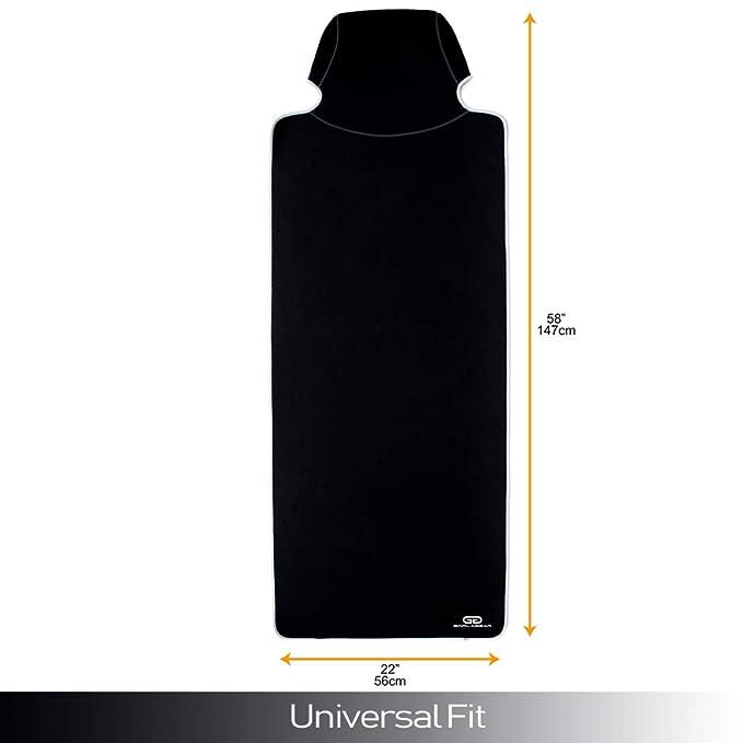 Gorla Funda y protector de asiento de auto universal a prueba de agua y resistente al sudor con protector de cinturón de seguridad para gimnasio, ...