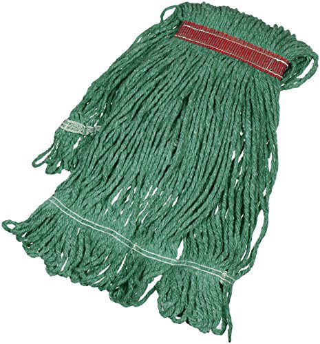 - AmazonBasics Loop-End Synthetic Mop Head, 1.25-Inch Headband, Small, Green - 6-Pack