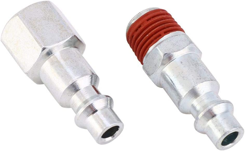 12 Pcs Quick Coupling Fitting Kit NPT American Female 1//4in Galvanized Iron Male Female Connector Kit