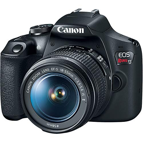 Canon EOS Rebel T7 DSLR Camera with EF-S 18-55mm and EF 75-300mm Lens Bundle with Bag, 64GB SD Card, Corel PC Photo and…