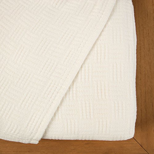 Maison Luxe Ultimate Luxury Eco-Chic Rayon from Bamboo Cotton Basket Weave Blanket by Maison Luxe (Image #2)