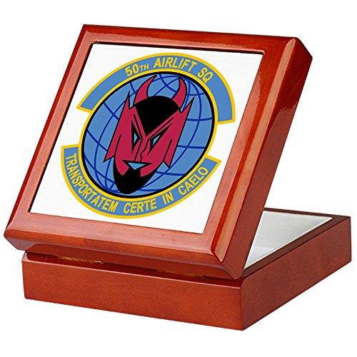 CafePress - 50Th Airlift Squadron - Keepsake Box, Finished Hardwood Jewelry Box, Velvet Lined Memento Box