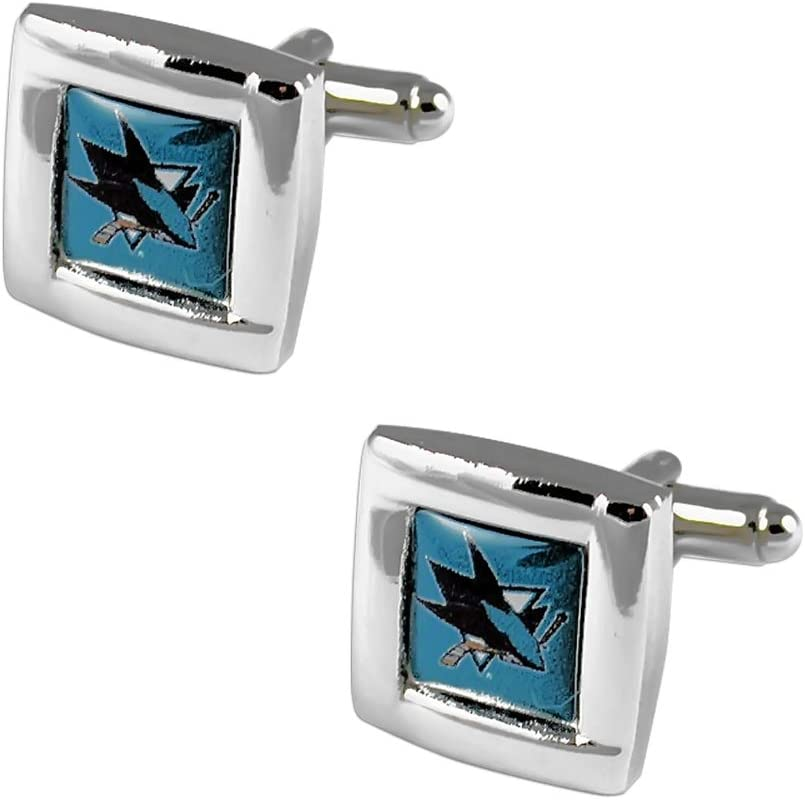 NHL San Jose Sharks Square Cuff Links
