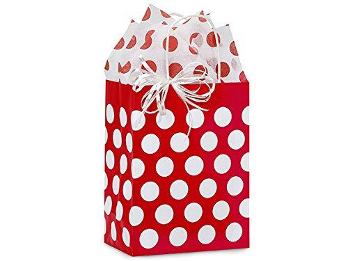 Red And White Gift Bags (Red Polka Dot Medium Gift Bag 24 Pcs)