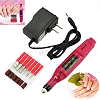 Nail File Drill Kit Electric Manicure Pedicure Acrylic Portable Salon Machine by Unknown