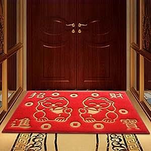 """uxjam entrar en la planta baja anillo puerta Mat Alfombra Casa Hall de entrada Bienvenida a visita el seguro hogar Felpudo personalizado de gato 6090cm (24""""35"""") (Extra gruesa sección)"""