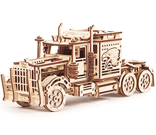 Big Rig Toy Truck, Realistic Semi Truck Model - Super Truck Toy - 3D Wooden Puzzle, Assembly Toys, ECO Wooden Toys, Best DIY Toy - STEM Toys for Boys and Girls