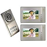 Wired Video Door Phone Intercom System Doorbell Kits,Night Vision Camera, 2 * 7