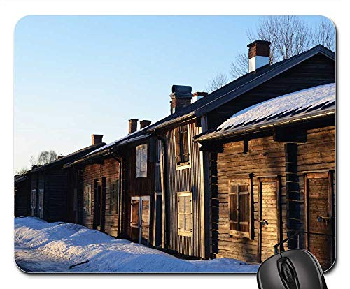Mouse Pads - SkellefteA Bonnstan Log Homes Winter