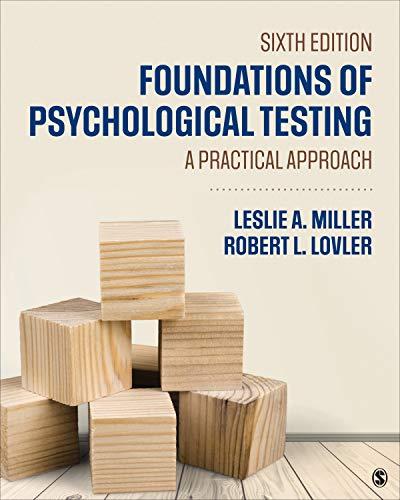 FOUNDATIONS OF PSYCHOLOGICAL T ESTING