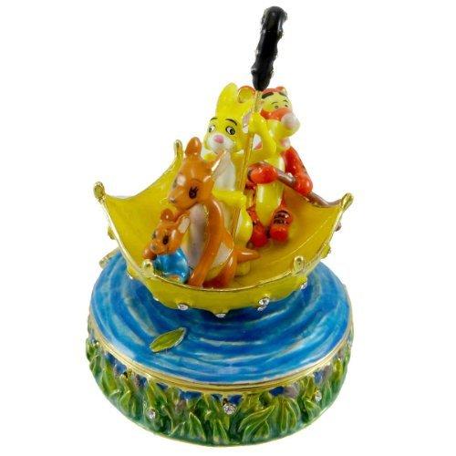 DEPT 56 BEJEWELED BOXES 100 ACRE WOOD FLOOD JEWELED Enamel Pooh Disney 796573