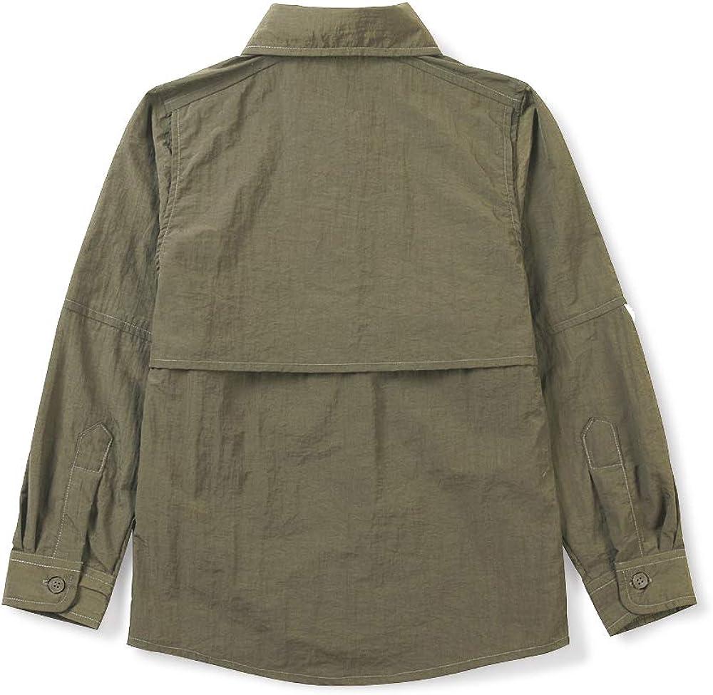 Quick-Dry UV Sun Protection Outdoor Tops OCHENTA Boys Long Sleeve Fishing Shirt