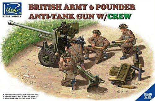 Riich.Models 1:35 British Army 6 Pounder Infantry Anti-tank Gun with Crew RV35042