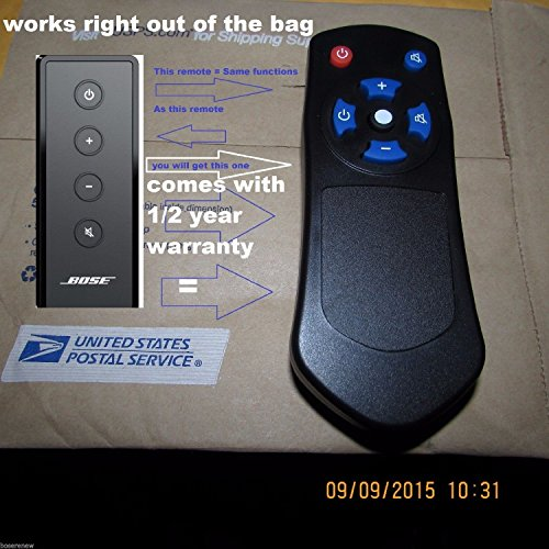 NEW Replaced Remote Control For Bose Solo Cinemate Series II IIGS 1SR 10 & (Mate Controller)