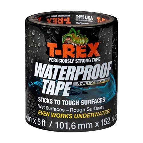 T-Rex 285987 Ferociously Strong Waterproof Tape, 4 Inch Wide, Black