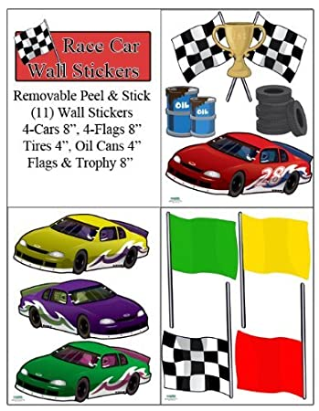 Race Car Wall Stickers Boys Room Wall Decals Peel U0026 Stick