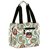 Nicole Miller of New York Insulated Lunch Cooler Bag - 11 Lunch Tote (Paisley Cream)