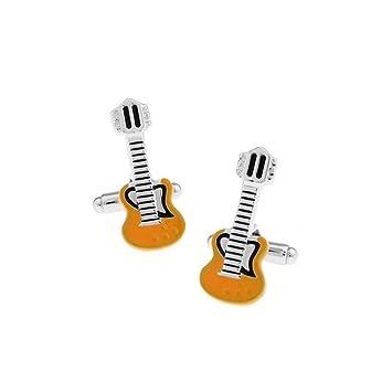 JUMP Camiseta De Las Señoras Gemelas Camisa De Vestir De Las Señoras Amarillo Guitarra Eléctrica Botón Geme A Las Señoras Retro Vestido Creativo: Amazon.es: ...