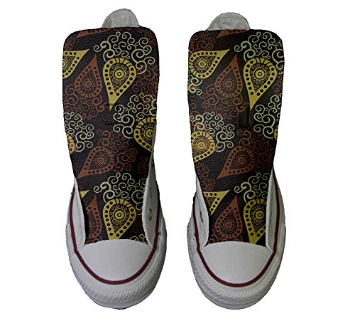 Converse All Star Zapatos Personalizados Unisex (Producto Handmade) Brown Paisley