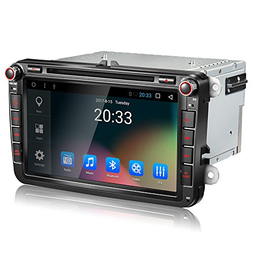 Amaseaudio Upgrade Android 7.1 GPS Navigation for VW Golf Passat CC Jetta Polo Skoda Seat 8 Inch Auto Double Din In Dash Car Stereo Head Units