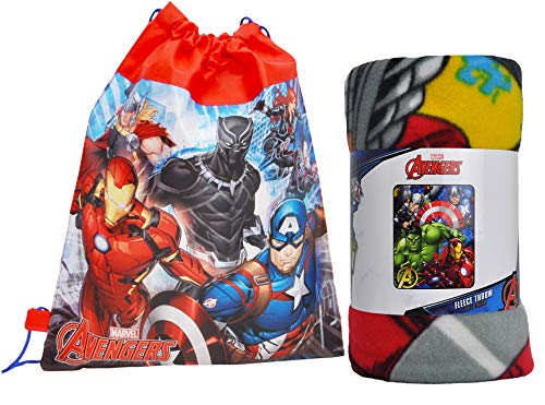 (Marvel / Northwest Fleece Throw Blanket and Sling Tote Bag - 2 pc Set (Avengers))