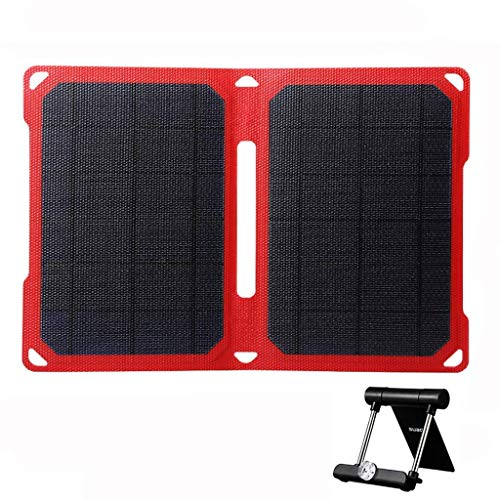 SUAOKI 14W Portable Solar Charger Foldable ETFE Solar Panel with Dual USB Port,...