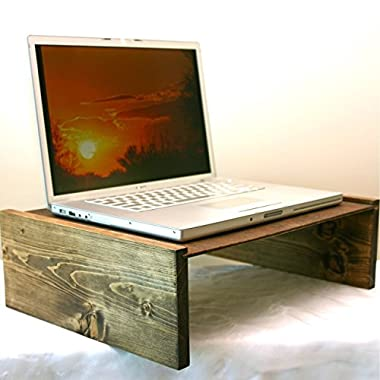 Laptop Table, Handmade Rustic Wood Mini Table, Portable Desk, 6.5 inches tall x 19 inches long x 13 inches wide FREE SHIPPING