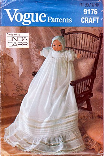 Vogue Sewing Pattern 9176 c.1980s LINDA CARR Christening Gown for a 16