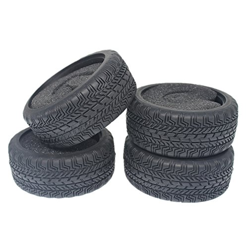 4-Pack HobbyPark Rubber Tyres Foam Inserts OD: 63mm ID:52mm Width: 26mm For RC 1:10th On Road Touring Racing Car (Car Touring 10th)