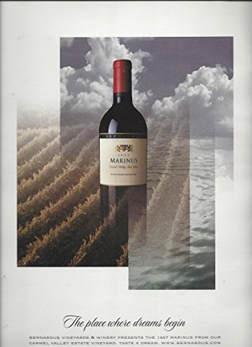 Magazine Advertisement For 1997 Marinus Wine  Place Where Dreams Being