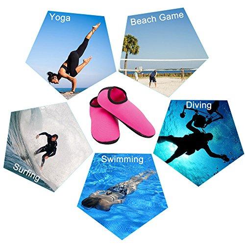 Sport Snorkeling Drive De Volleyball Schage Natation Femmes Marche marine Yoga Pied Unisexe Peau Beach Course Hommes Rose Pour Nus Chaussures L'eau Rapide Plage Sable La Pieds Fepito Plonge Sous q4pRItw6
