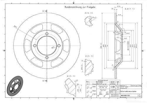 disco freno per Ducati Re onda 750SS 900SS Darmah 280/X 6 Ducati 0795.77.340 0797.77.343 quattro fori