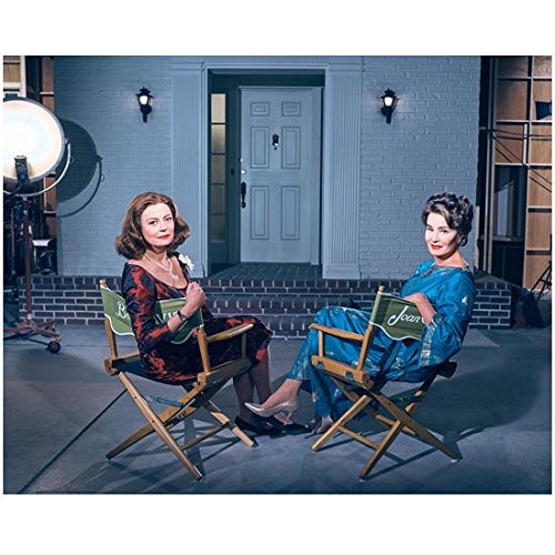 Jessica Lange as Joan Crawford Seated with Susan Sarandon as Bette Davis 8 x 10 Inch - Jessica Measurements Lange
