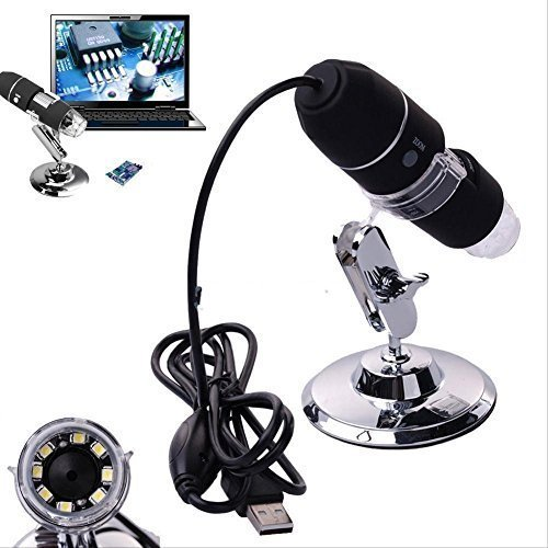 2MP 1000X 8 LED USB Digital Microscope Endoscope Camera Magnifier + Stand - 8