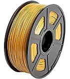 CC DIY PLA 3D Printer Filament Dimensional Accuracy +/- 0.02 mm 1kg Spool 1.75 mm Suits Most 3D Printers Tevo Tarantuala CR10 Mendel Prusa and More, Also Suitable for Most 3D pens (Gold)