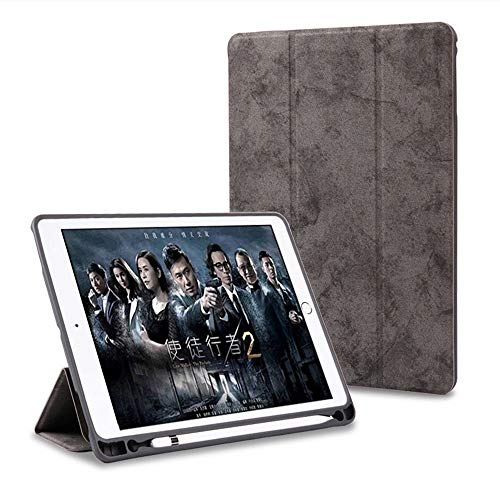 ProElite PU Smart Flip Case Cover for Apple iPad Air 3 10.5 #34; with Pencil Holder, Grey
