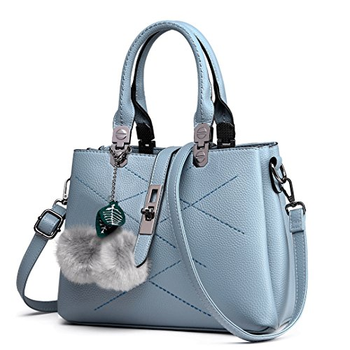 Miss Lulu Designer Ladies Purses and Handbags for Women Tote Bags (Blue E1751)