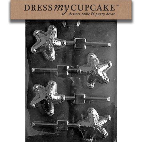 Dress My Cupcake DMCN040 Chocolate Candy Mold, Starfish Lollipop, Nautical