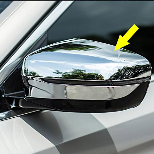 Rqing For BMW New 5 SERIES Sedan (G30) 530i 530e 540i M550i 2017 2018 2019 Chrome Rear View Mirror Cover Trims ()