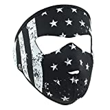Automotive : ZANheadgear WNFMS091 Neoprene Full Face Mask, Small, Black and White Flag