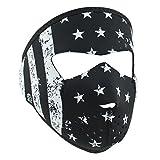 ZANheadgear WNFMS091 Neoprene Full Face Mask, Small, Black and White Flag