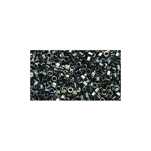 Miyuki Delica Hex Seed Bead DBC0254, 11/0 Galvanized Tarnished Silver, 9-Gram/Pack ()