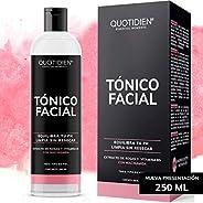 Tónico Facial con Agua de Rosas + Vitamina B5 + Niacinamida- 250ml- Sin Fragancia-Sin Alcohol Etílico-97% Ingr