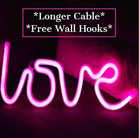 Ove Neon Light Signs Free Wall Hooks Extra Long Novelty Neon Sign Led Decor For Room Home Kid Bedroom Wall Decoration Dorm Decor Night Light Party