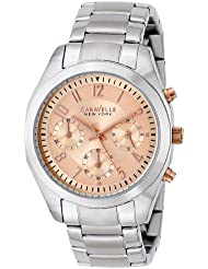 Caravelle New York by Bulova Womens 45L143 Analog Display Japanese Quartz White Watch