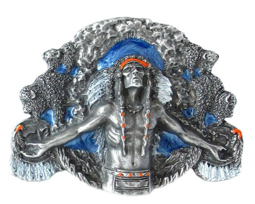 Pewter Belt Buckle - Indian Great Spirit