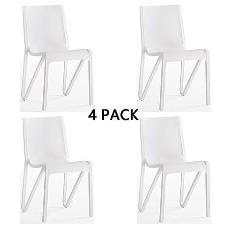 Amazon.com: MIMI KING - Juego de 4 sillas de comedor de ...